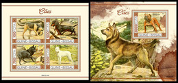 GUINEA BISSAU 2021 - Dogs II, M/S + S/S. Official Issue [GB210114] - Guinea-Bissau