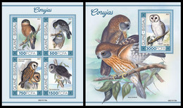 GUINEA BISSAU 2021 - Owls II, M/S + S/S. Official Issue [GB210116] - Guinea-Bissau