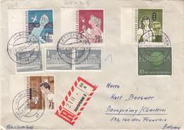 Berlin - Lettre Recom De 1960 - Oblit Saarbrücken - Europa - Bus - Vacances - - Lettres & Documents
