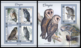 GUINEA BISSAU 2021 - Owls I, M/S + S/S. Official Issue [GB210115] - Guinea-Bissau