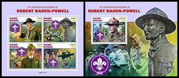 GUINEA BISSAU 2021 - R. Baden-Powell, Scouts, M/S + S/S. Official Issue [GB210117] - Guinea-Bissau
