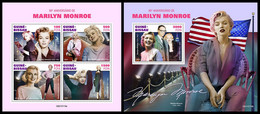 GUINEA BISSAU 2021 - Marilyn Monroe, M/S + S/S. Official Issue [GB210119] - Guinea-Bissau