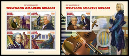 GUINEA BISSAU 2021 - Wolfgang Amadeus Mozart, M/S + S/S. Official Issue [GB210121] - Guinea-Bissau