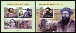 GUINEA BISSAU 2021 - Ferdinand Magellan, M/S + S/S. Official Issue [GB210122] - Guinea-Bissau