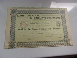 L'ART THEATRAL & CINEMATOGRAPHIQUE - Ohne Zuordnung