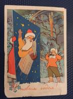 Santa. HAPPY NEW YEAR -  Space  -  Rocket  -  Astronaut  -  OLD USSR PC 1958 Camera Photographer - Espacio