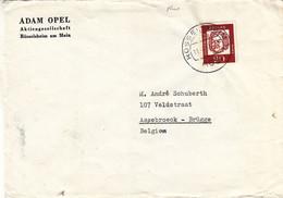 Allemagne - République Fédérale - Lettre De 1963 - Oblit Rüsselsheim - Timbre Fluo - Lettres & Documents