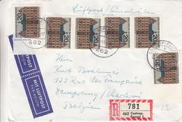 Allemagne - République Fédérale - Lettre Recom De 1964 - Oblit Castrop Rauxel - Valeur 12 Euros - Lettres & Documents