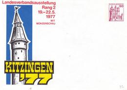 Allemagne - République Fédérale - Lettre De 1977 - Entier Postal - Château - Lettres & Documents