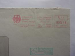 EMA Ambassade De La République Fédérale D'Allemagne Paris 29 - 04 - 05 Cochon Pig Schwein Maiale Varken Cerdo - Marcophilie - EMA (Empreintes Machines)