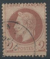 Lot N°61014   Variété/n°26B, Oblit Cachet à Date, Cercle Coupé Coté NORD OUEST - 1863-1870 Napoléon III. Laure