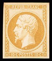 * N° 9c 10c Bistre-jaune, Réimpression 1862, Quasi **, TB - 1852 Louis-Napoleon