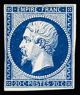 * N° 14Aa 20c Bleu Foncé, Très Frais, TB - 1853-1860 Napoleon III