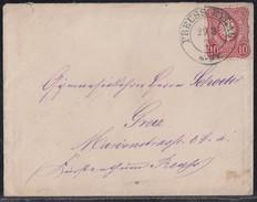 DR Brief EF Minr.33 Nachv. Stempel K2 Preuss.-Eylau 29.3.76 - Lettres & Documents