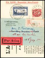 N° 6c 1F50 Outremer Perforé EIPA 30 Sur Journal 1930 L'Aérogramme En Recommandé Avec Complément D'afft (recto Et Verso), - Air Post