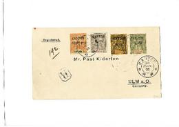 N°27, 29, 30 Et 31 Obl. CANTON 30 JUIN 05 Sur Enveloppe Recommandée Pour ULM En Allemagne, TB - Unclassified