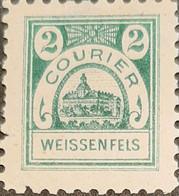 Germany Stadtpost/Privatpost Weißenfels 2 Pfg 1896 Michel 13 - Sello Particular