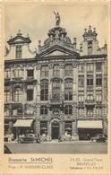 REF4217/ CP-PK Bruxelles Brasserie St. Michel Voitures Animée Grand Place MINT - Cafés, Hôtels, Restaurants