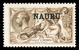 1916-23 2s6d Deep Brown, De La Rue Printing, Mint, Very Fine (SG19) - Nauru