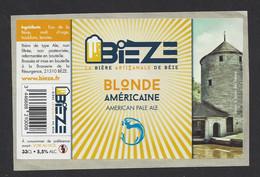 Etiquette De Bière Blonde Américaine  -  Bièze  -  Brasserie De La Résurgence à Bèze  (21) - Birra