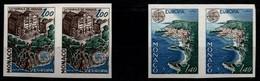 Monaco Yvert 1139/40 Série Complète En Paires Non-Dentelés NSC / MNH / ** Europa 1978 - Varietà