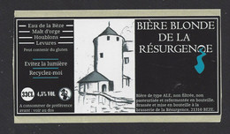 Etiquette De Bière Blonde  -  Brasserie De La Résurgence à Bèze  (21) - Birra