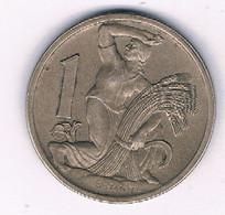 1 KORUN  1922  TSJECHOSLOWAKIJE /3844/ - Tschechoslowakei