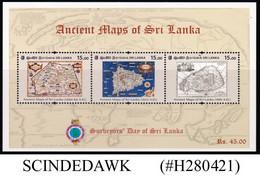 SRI LANKA - 2020 ANCIENT MAPS OF SRI LANKA MIN/SHT MNH - Sri Lanka (Ceylon) (1948-...)