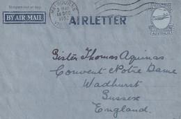Australie Aérogramme Melbourne Pour L'Angleterre 1952 - Covers & Documents
