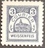 Germany Stadtpost/Privatpost Weißenfels 3 Pfg Unused 1896 Michel 16 - Sello Particular