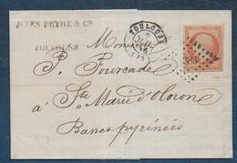Napoléon   N° 16b  Oblitéré Sur Lettre De Toulouse - Signé Baudot   - Cote : 55 € - 1849-1876: Klassieke Periode