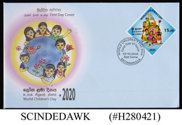 SRI LANKA - 2020 WORLD CHILDREN'S DAY FIRST DAY COVER - Sri Lanka (Ceylon) (1948-...)