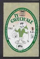 Etiquette De Bière  -  Ty Gwech'ale  -  Brasserie Les Fous à Carnoët (22)  -  Thème Sports D'Hiver - Beer
