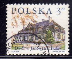 POLONIA POLAND POLSKA 2001 STRUCTURES LOCAL RESIDENCE POLISH Country Estates Janowiecj 3z USATO USED OBLITERE' - Usati
