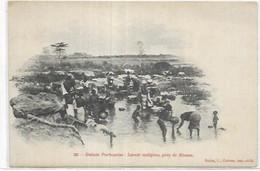 AFRIQUE   GUINEE PORTUGAISE.  LAVOIR INDIGENE PRES DE BISSAU - Guinea-Bissau