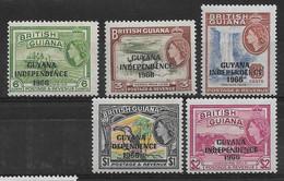 Britisch Guayana 1967 Lot  Mi.-Nr. 277, 284, 290, 292, 293 */MH - Guyane Britannique (...-1966)