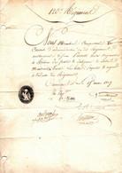 POSTE . 1809 .1ER EMPIRE . AUTORISATION VAGUEMESTRE RETIRER DES POSTES,DES DILIGENCES,LES LETTRES ET PAQUETS ... - Historical Documents