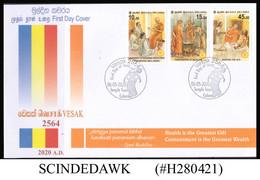 SRI LANKA - 2020 VESAK - CARING PRINCIPLES / HEALTHCARE / FESTIVALS FDC - Sri Lanka (Ceylon) (1948-...)
