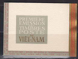 Vietnam Empire 1952 Carnet De 5 BF. Yvert 1 / 5 ** Neufs Sans Charniere.Chutes De Bongour, Hue, Palais Imperial, Bao Dai - Vietnam