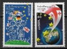 Géorgie 2006 N° 409/410 Neufs Europa L'intégration - 2006