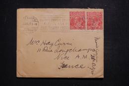 AUSTRALIE - Enveloppe Pour La France En 1924, Oblitération Mécanique Sur Exposition British Empire  - L 97427 - Postmark Collection