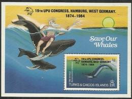 Turcs Caicos Turks Et Caiques 1984 Yvertn° Bloc 52 *** MNH Cote 11 € Faune Marine UPU Hamburg - Turks And Caicos