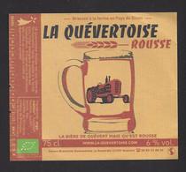 Etiquette De Bière Rousse  -  Brasserie Quévertoise à Quévert   (22) - Beer