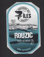 Etiquette De Bière BLanche  -  Rouzic  -  Brasserie Des 7 Iles  à  Trégastel   (22) - Beer
