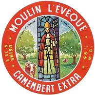 ETIQU. CAMEMB. MOULIN L'EVEQUE St Pavace-Lez-Le Mans 72 - Cheese