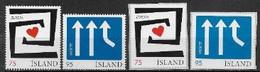 Islande 2006 N° 1056/1059 Neufs Europa L'intégration - 2006