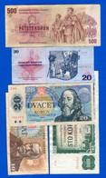 Tchécoslovaquie  5  Billets - Czechoslovakia