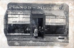 LIMOGES: Très Rare Carte Photo De1907-Magasins De PIANOS CHATENET Henri,2 Boulevard Louis Blanc - Limoges