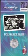 MEDAGLIA COLLEZIONI MEMORABILI GAZZETTA DELLO SPORT MILAN COPPA DELLE COPPE 1967/68 - Unclassified