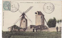 49 CHALONNES SUR LOIRE. CPA COLORISEE. RARETE. LES MOULINS D'ARDENAY. ANIMATION. ANNÉE 1907+ TEXTE - Chalonnes Sur Loire